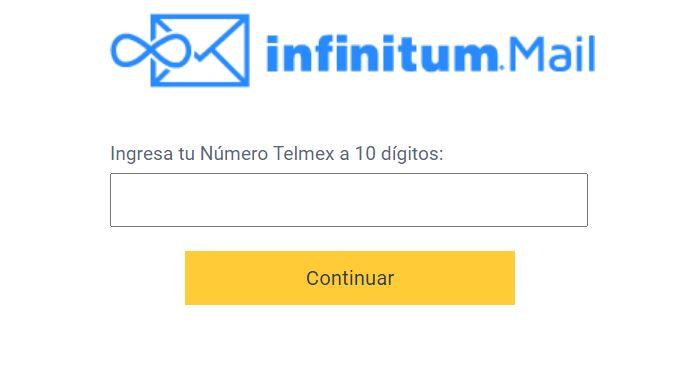 Pasos para abrir un mail infinitummail