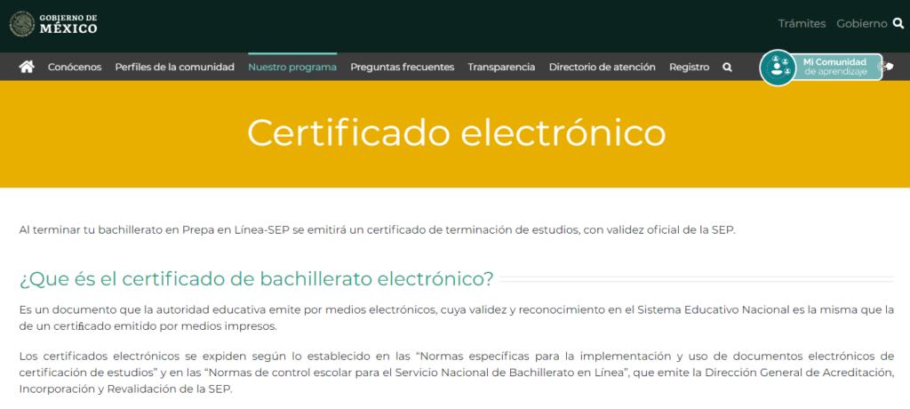 descargar certificado sep prepa en linea