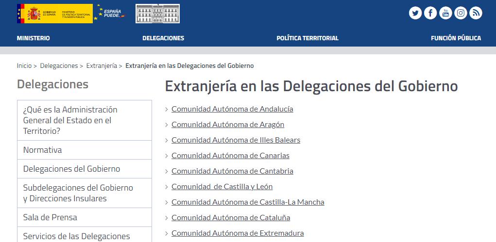 expedientes extranjeria delegaciones