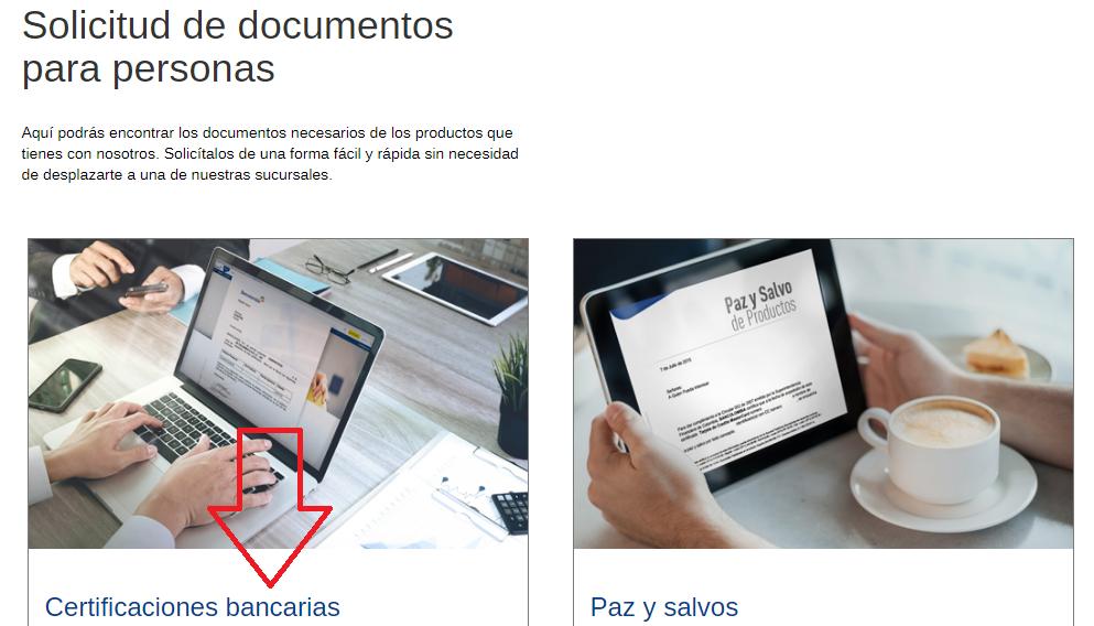 descargar certificación bancaria bancolombia